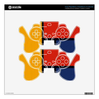 Mondrian Yorkie Skins For PS3 Controllers