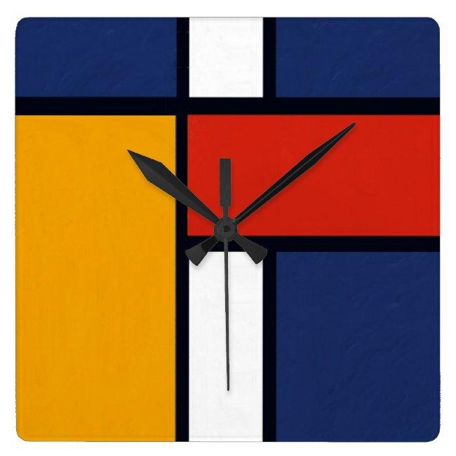 Mondrian Yorkie Wallclocks