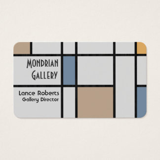 Mondrian's Modern Business Card