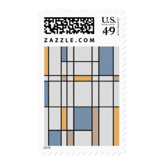Mondrian's Modern Stamps