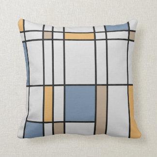 Mondrian's Modern Throw Pillows