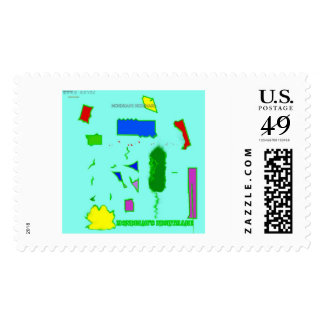 Mondrian's Nightmare concept art postage stamp