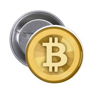 Moneda anónima BTC de DIGITAL del DINERO de BITCOI Pin Redondo 5 Cm
