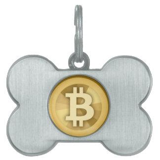 Moneda anónima BTC de DIGITAL del DINERO de BITCOI Placas De Mascota