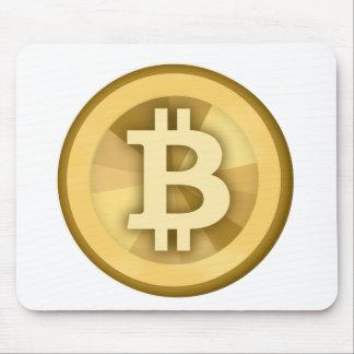 Moneda anónima BTC de DIGITAL del DINERO de BITCOI Tapetes De Raton