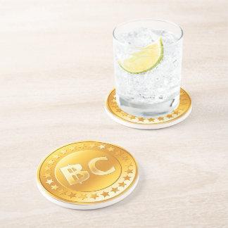 Moneda Bitcoin - Posavasos redondo M4 Posavasos Cerveza