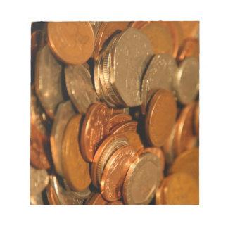 Moneda británica mezclada libretas para notas