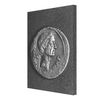 Moneda con un retrato de Julio César Lienzo Envuelto Para Galerias