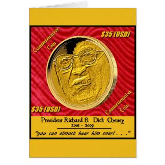 Moneda conmemorativa de presidente Dick Cheney Tarjeta De Felicitación
