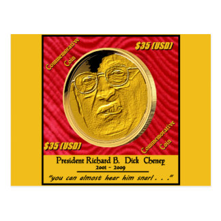 Moneda conmemorativa de presidente Dick Cheney Postal