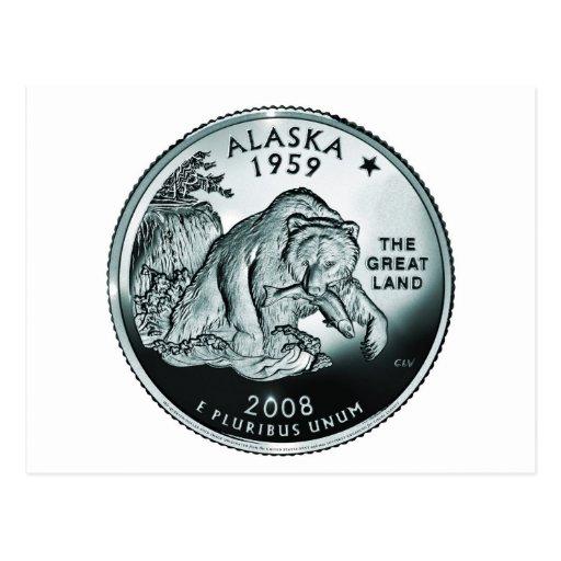 Moneda de Alaska - imagen Postales