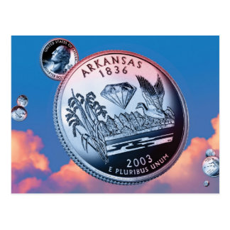 Moneda de Arkansas - cielo Tarjetas Postales