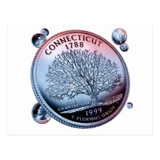 Moneda de Connecticut - puñado Tarjetas Postales