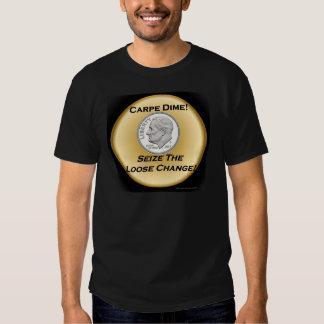 Moneda de diez centavos de Carpe - agarre el Playera