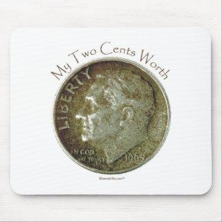 Moneda de diez centavos de la foto alfombrillas de raton