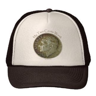 Moneda de diez centavos de la foto gorros bordados