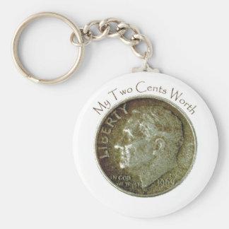 Moneda de diez centavos de la foto llaveros personalizados