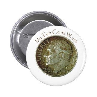 Moneda de diez centavos de la foto pins