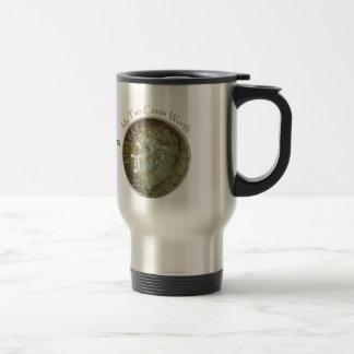 Moneda de diez centavos de la foto taza de café