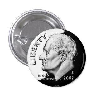 Moneda de diez centavos pins