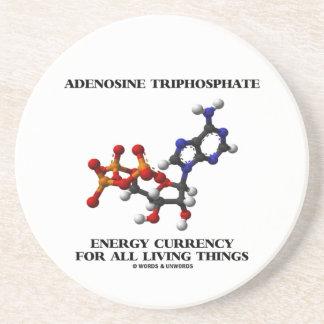 Moneda de la energía del trifosfato de adenosina posavasos personalizados