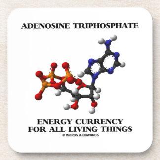 Moneda de la energía del trifosfato de adenosina posavasos de bebida