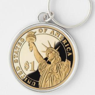 Moneda de la libertad de la señora como llavero