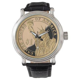 Moneda de la libertad relojes de pulsera