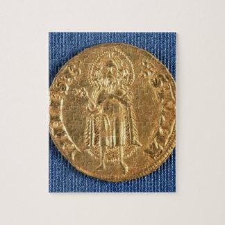 Moneda de oro, con St. John el Bautista, siglo XVI Puzzle