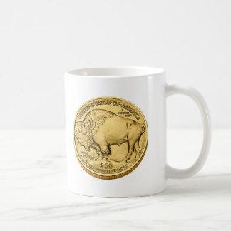 Moneda de oro del lingote del búfalo tazas