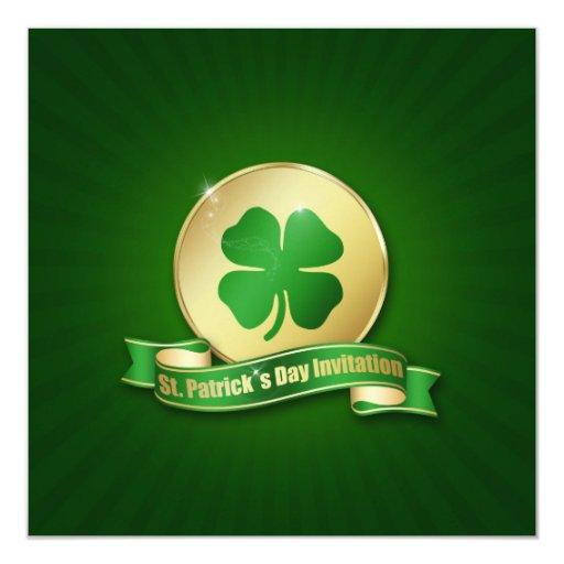 Moneda del día de los ´s de St Patrick - Invitación 13,3 Cm X 13,3cm