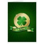 Moneda del día de los ´s de St Patrick - tarjeta