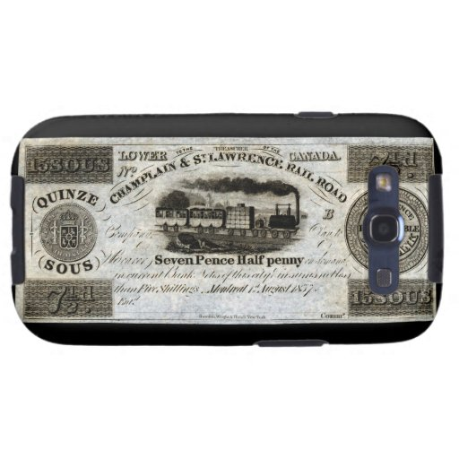 Moneda del ferrocarril de 1837 canadienses galaxy SIII carcasa