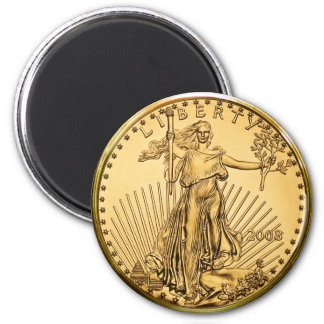 Moneda del lingote de oro de la libertad imán