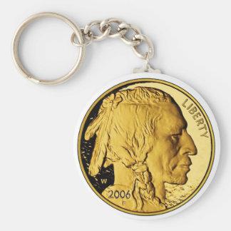 Moneda del lingote de oro de la prueba del búfalo  llaveros personalizados