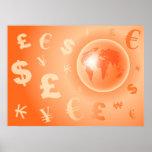 Moneda del mundo impresiones