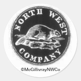 Moneda del noroeste pegatina redonda