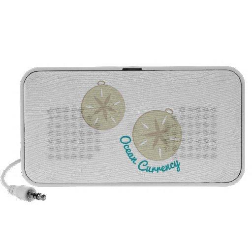 Moneda del océano iPod altavoz