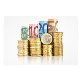 moneda euro impresión fotográfica