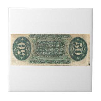 moneda fraccionaria 50-Cent (cuenta del hilandero) Azulejo Cuadrado Pequeño