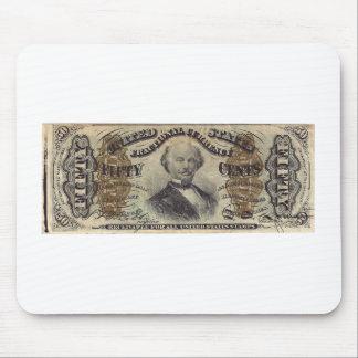 moneda fraccionaria 50-Cent (cuenta del hilandero) Tapetes De Raton