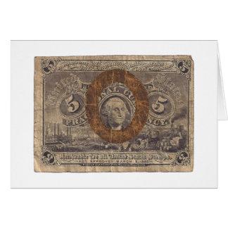 moneda fraccionaria 5-Cent Tarjetas