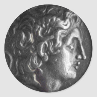 Moneda griega pegatinas redondas