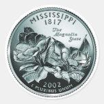 moneda - imagen pegatina redonda