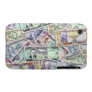 Moneda jamaicana - billetes de banco iPhone 3 Case-Mate carcasas