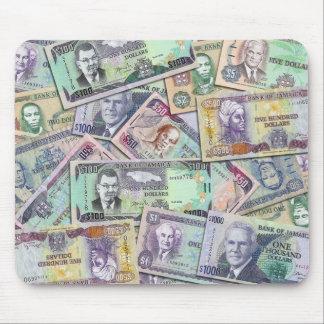 Moneda jamaicana - billetes de banco tapete de raton