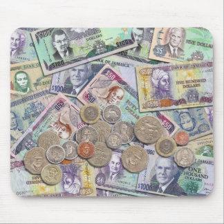 Moneda jamaicana - vieja y nueva tapetes de ratón