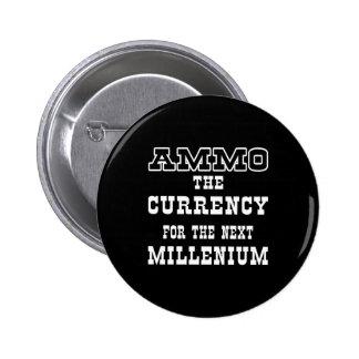 Moneda negra de la munición el milenio próximo pin redondo de 2 pulgadas