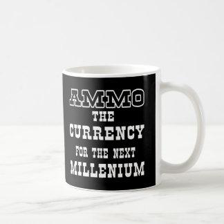 Moneda negra de la munición el milenio próximo tazas