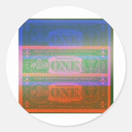 Moneda Pegatina Redonda